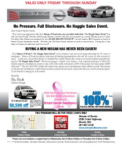Nissan of Bowie_GC_CustomBreastCancer_102315_$85k in Grosses-34 Sold